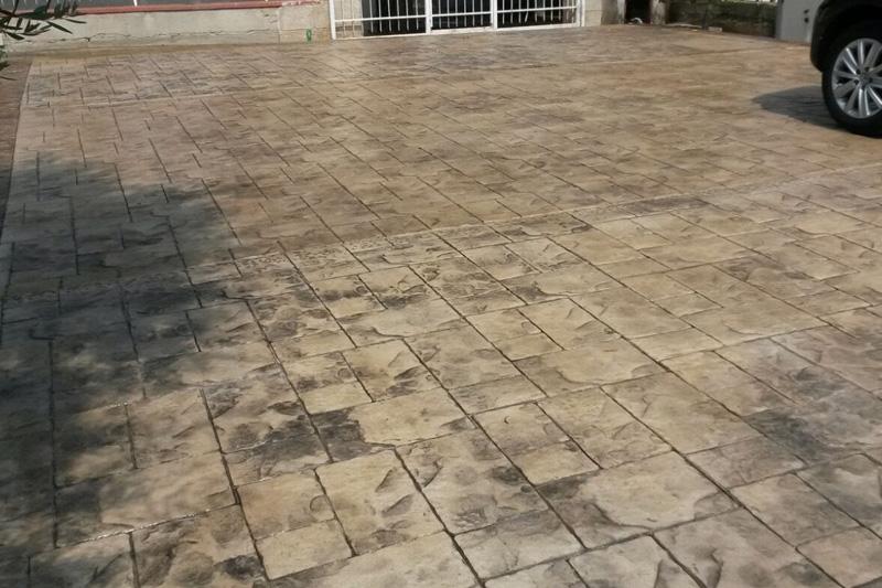 Pavimenti In Cemento Stampato : Pavimento esterno cemento stampato prezzi con cemento stampato e